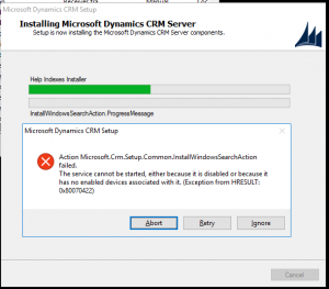 CRM 2016 Installation Error