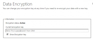 CRM Encryption Key